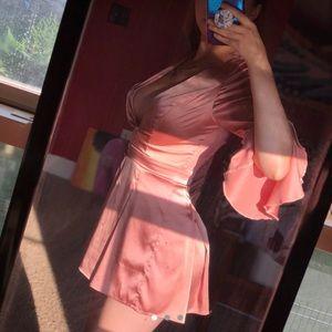 Satin Pink Romper